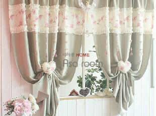 【Asa 断货】韩国窗帘代购进口 田园玫瑰客厅卧室成品窗帘 k350-h,窗帘,
