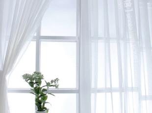 【包邮+特价】高档十字麻纱田园窗帘布艺订制*地中海浪漫,窗帘,