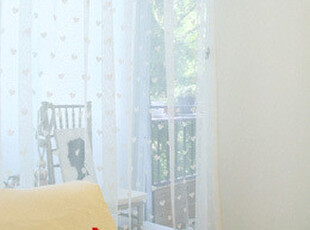 『韩国网站代购』无处藏匿的甜美 粉色桃心轻纱窗帘|定做款,窗帘,