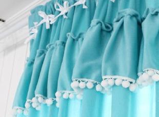 『韩国网站代购』高饱和度糖果色 甜蜜好心情球球挂穗细绒窗帘,窗帘,