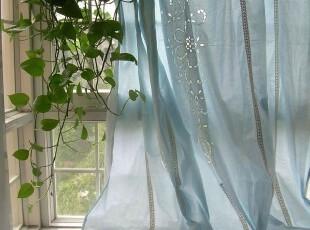 【茵梦纪】*蒂凡尼*华丽雅致百带丽蕾丝蓝色窗帘(1.8*2.6米),窗帘,