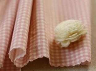 纯棉布料 窗帘床品布料 桔肉色格子  (50*160),窗帘,