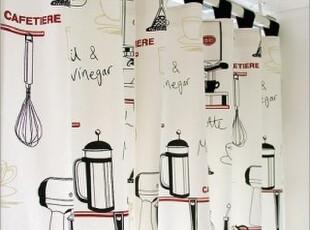 韩国订购 *茶壶*韩国餐厅窗帘厨房RS0081(特价),窗帘,