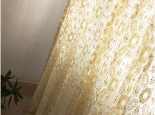 [慢素mansu]晨曦。外贸纯棉蕾丝纱帘拼布窗帘 定制定做 原价78,窗帘,