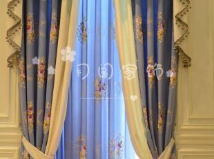 高端定制加厚棉麻蚕丝绣花窗帘,古典现代客厅卧室成品窗帘定做,窗帘,