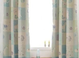 【Asa room】韩国窗帘进口 蓝色儿童卡通成品遮光正品 k430-b,窗帘,