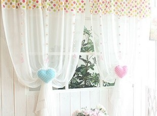 【Asa room】韩国窗帘进口 白色带圆点成品半遮光窗帘正品 k438-1,窗帘,