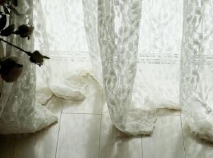 【3米家】复古蕾丝&细棉网纱刺绣蕾丝&纱帘定制,窗帘,