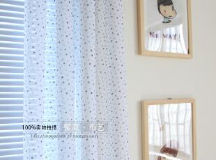 【小蓝点】窗纱/纱帘/地中海/卧室/客厅/阳台/书房/高档,窗帘,