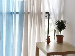 慢素mansu 春晓。纯棉清新拼布窗帘 定制定做,窗帘,