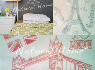【自然家居】儿童卧室棉麻配纱卡通窗帘 粉兰 定高2.8m,窗帘,