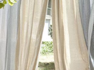 【3米家】格子拼接窗帘回归自然质朴棉麻窗帘定制,窗帘,