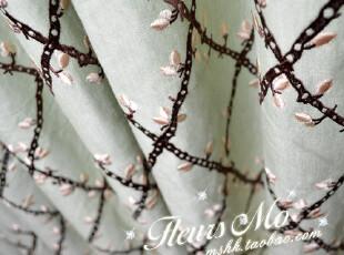 花间集 美式乡村轻法式进口面料/精致绣花高档棉布窗帘定制,窗帘,
