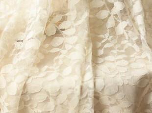直供日本绣花蕾丝布料 叶子 窗帘婚纱衣料 团购 50*160厘米,窗帘,