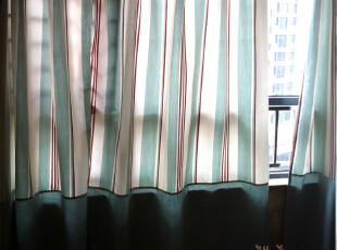 【3米家】简单生活/加厚色织人造棉布窗帘定制定做/拼布窗帘,窗帘,