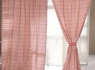 【3米家】新古典中式纯棉窗帘定制定做   带式穿杆窗帘 布帘,窗帘,