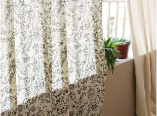 [慢素mansu]天爱。外贸余单古典纹亚麻/棉麻窗帘 定制定做,窗帘,