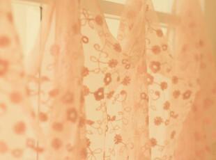 直供日本绣花蕾丝布料  清新婉菊   肉桔粉 窗帘衣料 ,窗帘,