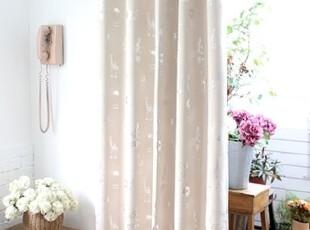 【Asa room】韩国进口代购 米色动物遮光成品客厅卧室窗帘k449-b,窗帘,