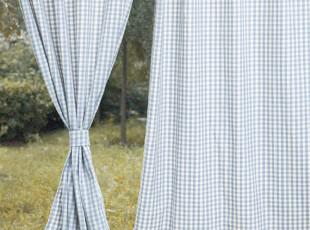 【3米家】绝好品质厚棉布窗帘/窗帘定制/格子窗帘/儿童房窗帘,窗帘,