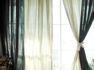 【3米家】棉麻定制~或许就是礼物~棉质拼接窗帘,窗帘,