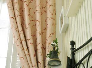 乡村田园风格藤蔓双面遮光布料窗帘--缠绕,窗帘,