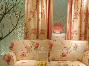 罗马假日A系列/质朴田园/高档印花客厅卧室成品窗帘布料特价清仓,窗帘,