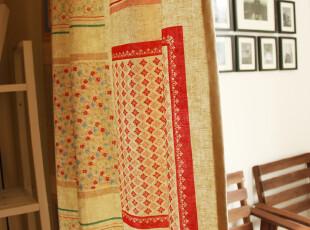 北欧波西米亚风情 棉麻 窗帘 2片装【弗拉明戈】系列,窗帘,