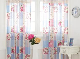 『韩国网站代购』田园风光 绝美花园宴会拼接方格窗帘,窗帘,