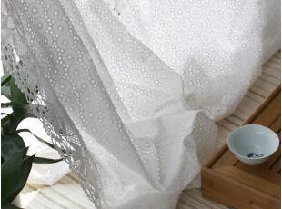 [慢素mansu]皇菊。外贸乡村蕾丝窗帘棉布窗帘 订制定做,窗帘,
