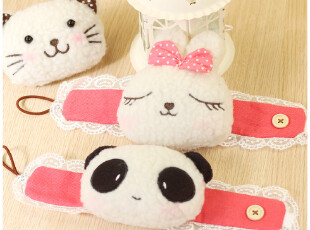 贝贝兔♥可爱卡通 熊猫兔子猫猫 毛绒窗帘夹窗帘扣窗帘绑带,窗帘,