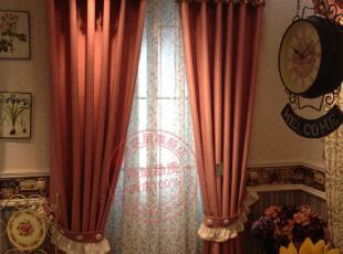 高档新款韩国灯笼窗帘 皮红色雪尼 客厅卧室 结婚新房定做 包邮,窗帘,