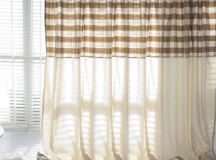 【3米家】绝好品质厚棉布窗帘/窗帘定制/咖色大格子窗帘,窗帘,