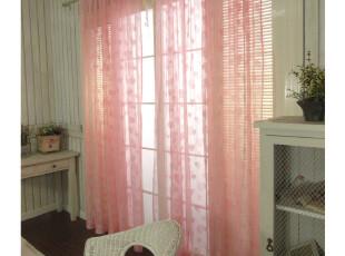 2012新品特价㊣韩式窗帘半透明心型窗纱唯美纱帘拍摄背景成品现货,窗帘,
