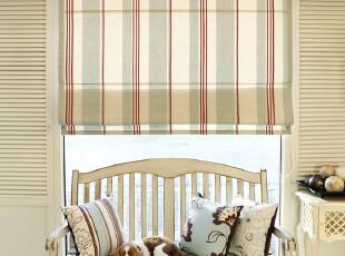 现代/简欧/乡村条纹 定做罗马帘/窗帘 加厚色织纯棉-清新的条纹,窗帘,