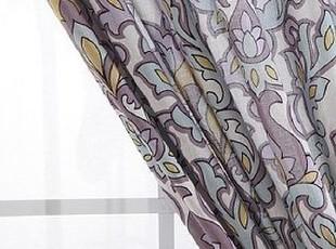 【纽约下城公园】玛德琳奇异淡紫色花纹飘逸棉质窗帘,窗帘,