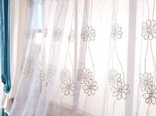 ★公主梦想★在韩国定做*温馨花朵*刺绣百搭装饰纱帘 M2039,窗帘,
