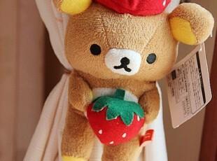日单San-x轻松小熊轻松熊 Rilakkuma 草莓 印花 窗帘扣,窗帘,