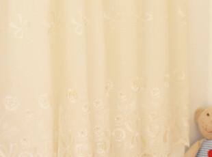 直供韩国l纯棉绣花半帘 太阳花 外贸 窗帘 团购价(买6送1)!!,窗帘,
