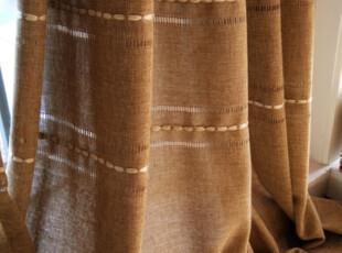 包邮特价 清新绣花缕空高档纯素色亚麻客厅阳台窗帘布艺 雕刻时光,窗帘,