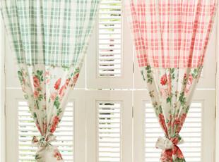 『韩国网站代购』花和格子的依恋 乡村风格窗帘,窗帘,