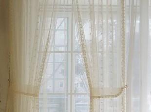 韩国进口代购定做 蕾丝绣花双层装饰纱窗帘窗纱,窗帘,
