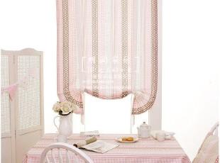 公主/儿童房适用 韩式纯棉短窗帘升降帘/罗马帘 桃乐西-粉,窗帘,