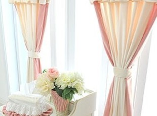 【Asa room】韩国进口代购窗帘 公主短绒卧室成品窗帘 c752-k,窗帘,