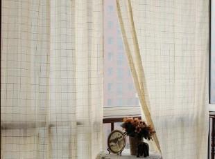 【琪琪布艺】本色棉纱钩针花边成品窗帘 窗纱 多尺寸,窗帘,