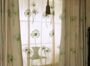 ★公主梦想★在韩国定做*蒲公英的旅行*双层落地装饰窗帘 M2044,窗帘,