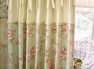 韩国进口田园卧室窗帘成品布料定制遮光飘窗高档窗帘,窗帘,
