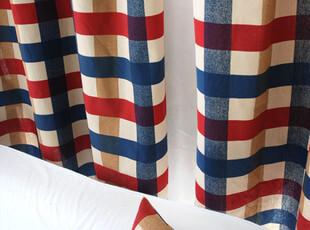 高档棉麻外贸美式乡村 田园 窗帘 布艺 定制 地中海 布料 面料,窗帘,