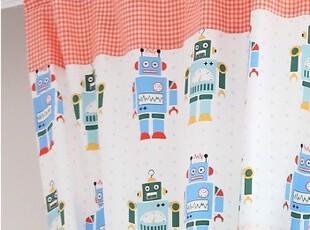 『韩国网站代购』可爱机器人 儿童房窗帘|定做款,窗帘,