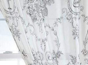 【纽约下城公园】 欧式图案清新淡雅飘逸棉质窗帘(片),窗帘,